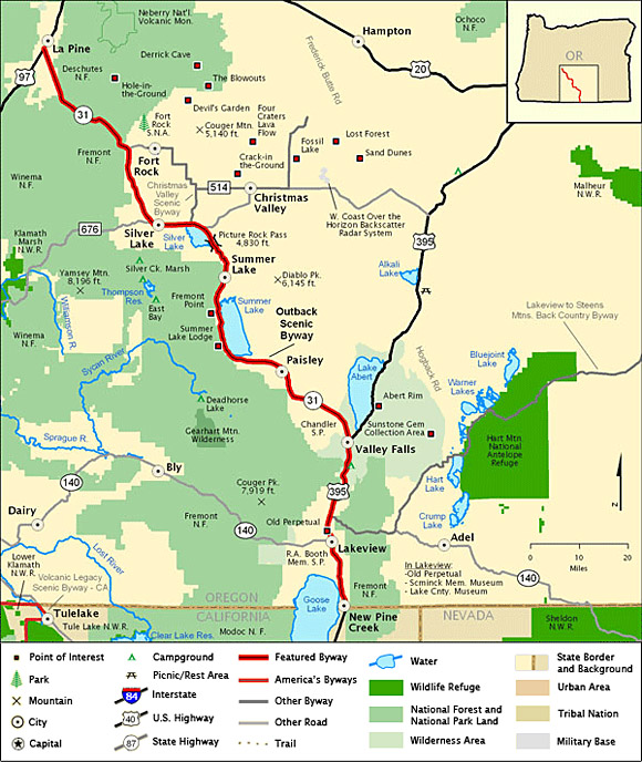 Oregon Outback Byway Map